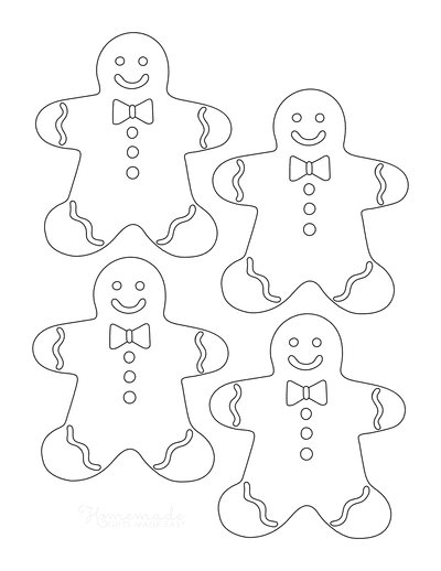 Gingerbread Man Template With Icing Small 4