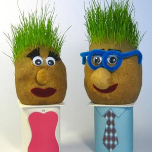 homemade gag gifts grass heads