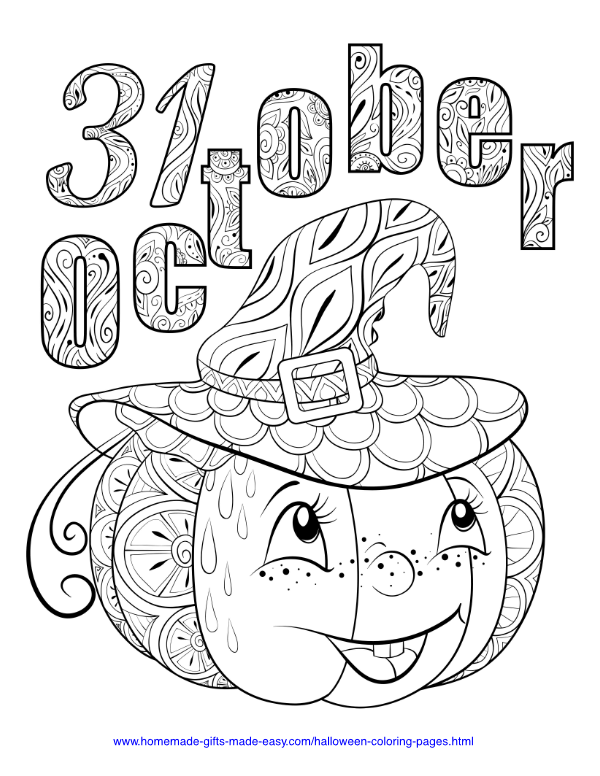 FREE Halloween Coloring Pages for Adults & Kids - Happiness is ... | 776x600