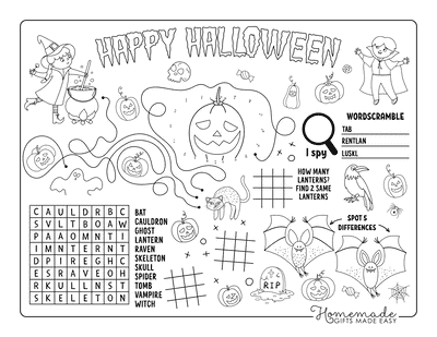 Halloween Coloring Pages Activity Sheet
