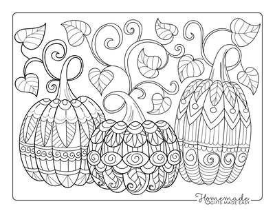 Halloween Coloring Pages Adults Decorative Pumpkins