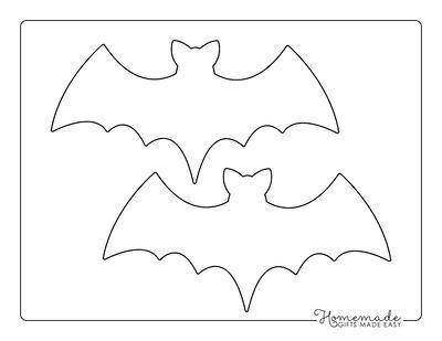 Halloween Coloring Pages Bat Template Medium
