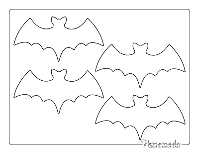 Halloween Coloring Pages Bat Template Small