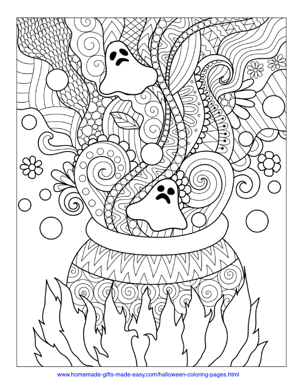 - Free Printable Coloring Pages For Kids And Adults: Spooky Halloween  Coloring Pages Printable