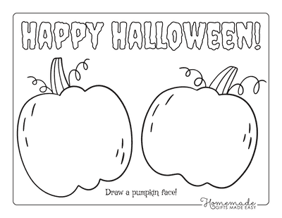 Halloween Coloring Pages Draw a Pumpkin Face
