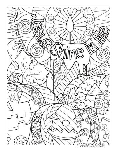 Halloween Coloring Pages for Adults Jesus Shine in Me