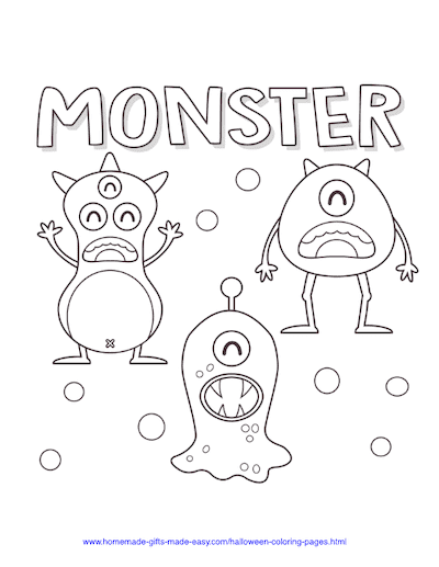 Halloween Coloring Pages Monsters