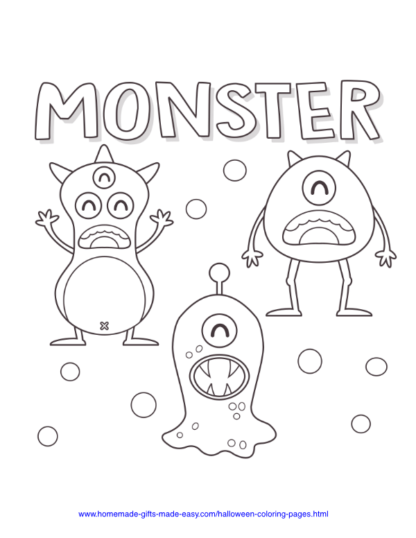 halloween coloring pages - Monsters
