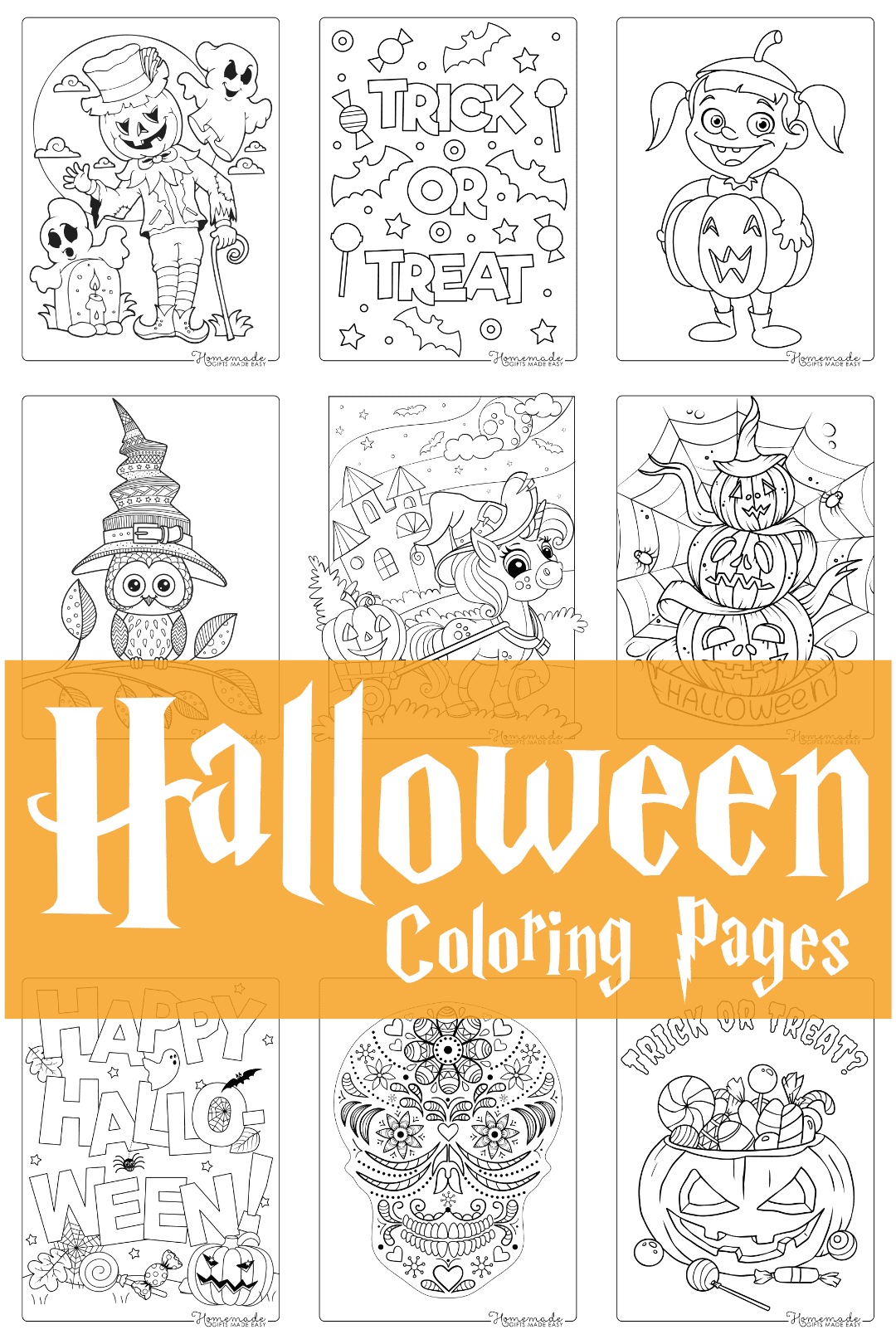 halloween coloring pages - 75 Free Printable PDFs