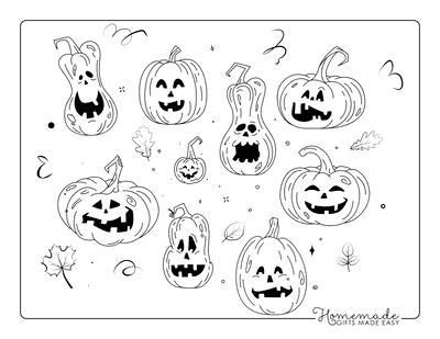 Halloween Coloring Pages Scary Pumpkins