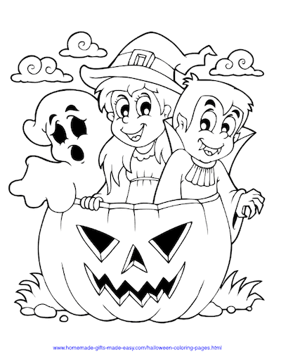 Halloween Coloring Pages Witch Ghost Vampire Pumpkin
