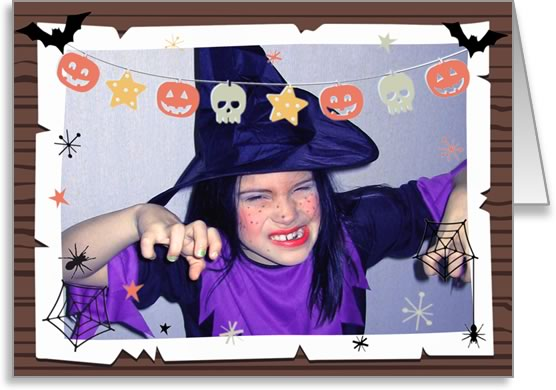 halloween photo cards bunting