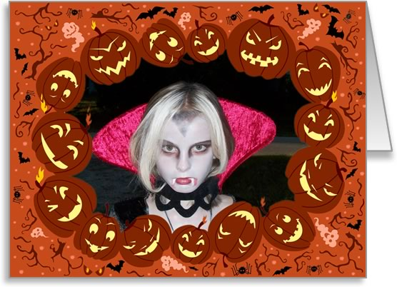 halloween photo cards ring of pumpkins