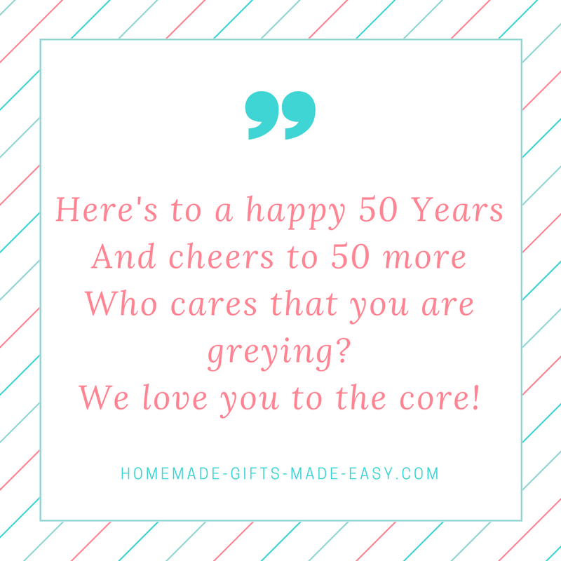 Happy 50th Birthday Poems – Verses for 50th Birthday Cards