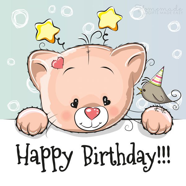 happy birthday images cute bear 600x600