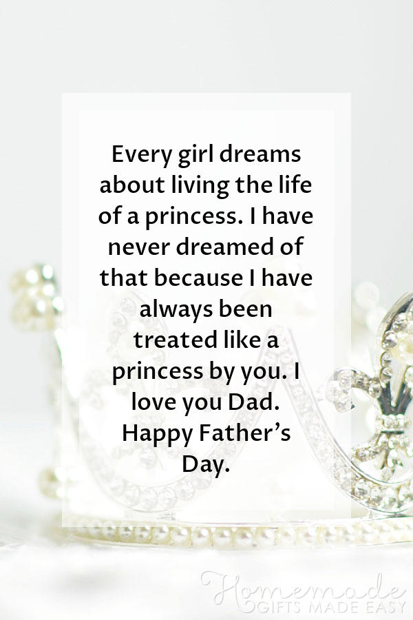 happy fathers day images treated like princess 600x900