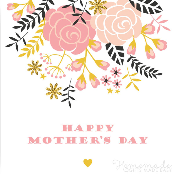 happy mothers day images flowers heart 600x600