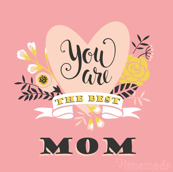 happy mothers day images you are the best mom 600x600