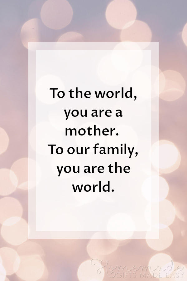 happy Mother's Day images you are the world 600x900