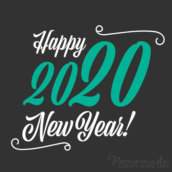 happy new year images 2020 black green