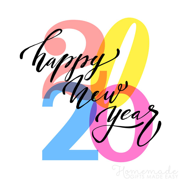 happy new year images 2020 colorful