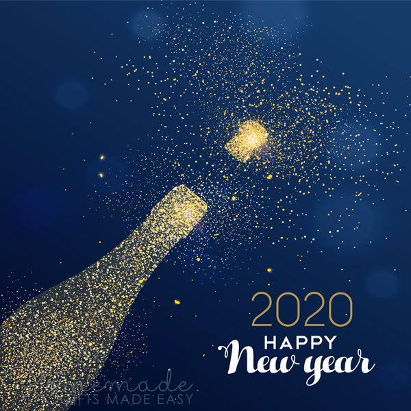 happy new year images 2020 champagne