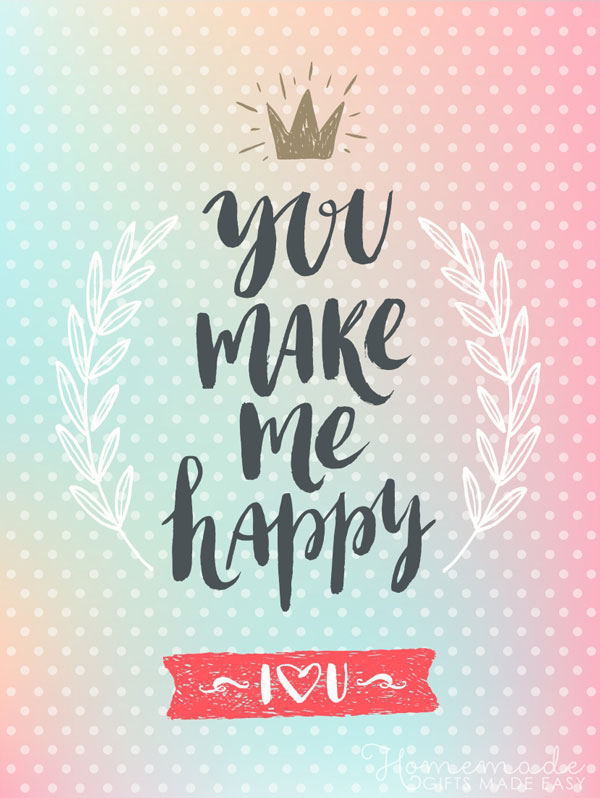 happy valentines day images you make me happy 600x798