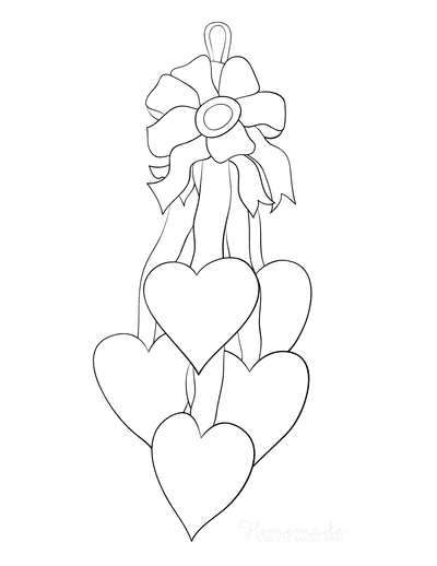 Heart Coloring Pages Decoration