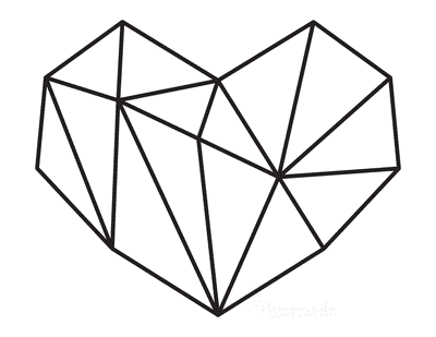 Heart Coloring Pages Geometric Heart 5