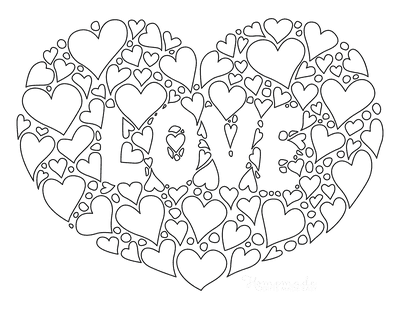 Heart Coloring Pages Heart of Love Hearts