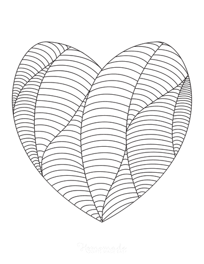 Heart Coloring Pages Intricate Pattern for Adults 2
