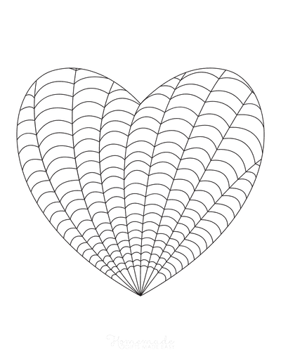 Heart Coloring Pages Intricate Pattern for Adults