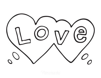 Heart Coloring Pages Love
