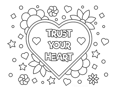 Heart Coloring Pages Trust Your Heart