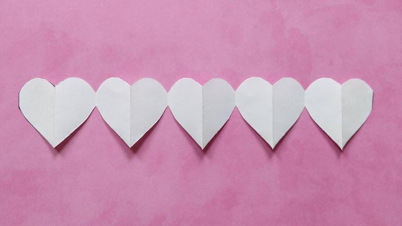 paper heart chain step 5