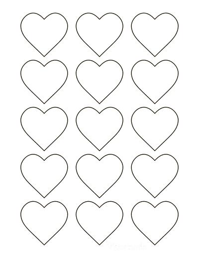 Heart Template Simple Classic Outline Mini
