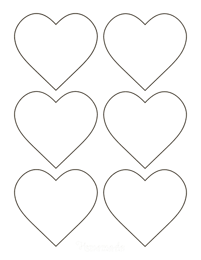 Heart Template Simple Classic Outline Small