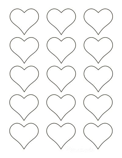 Heart Template Simple Outline Mini