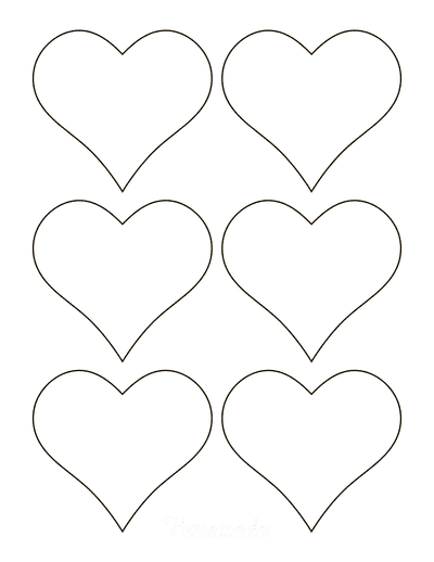 Heart Template Simple Outline Small