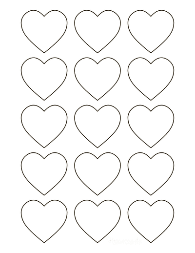 Heart Template Simple Rounded Outline Mini