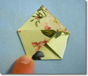 origami homemade advent calendar pattern
