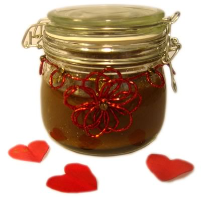 homemade body scrub jar