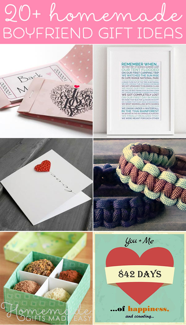 cute homemade gifts for boyfriend