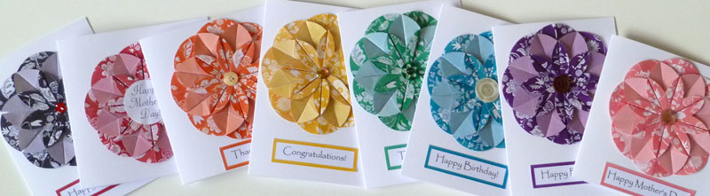 homemade card ideas origami flower template