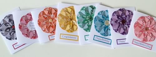 homemade card ideas origami flower