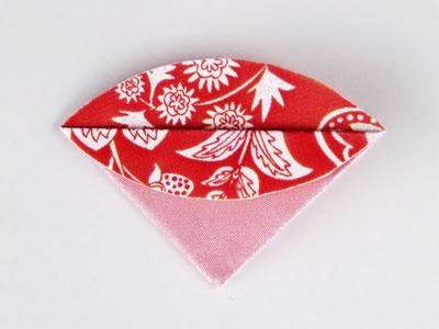Homemade card ideas - dahlia origami flower step 4b