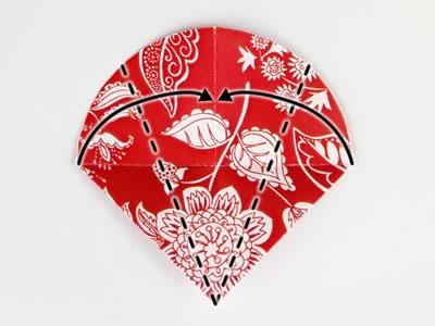 Homemade card ideas - dahlia origami flower step 5b