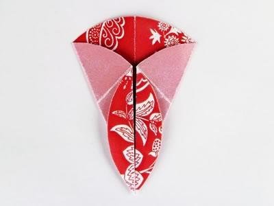 Homemade card ideas - dahlia origami flower step 5c
