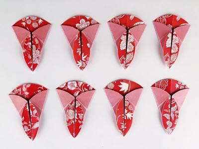 Homemade card ideas - dahlia origami flower step 6