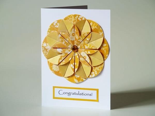 Homemade card ideas origami dahlia flower